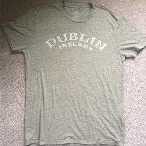 Lucky Brand Dublin Ireland  rustic t shirt